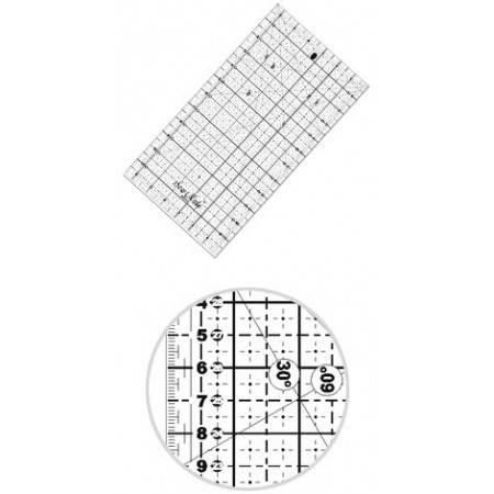 Liniał do patchworku i quiltingu 160x320 mm, linijka podziałka centymetrowa, czarna - 1