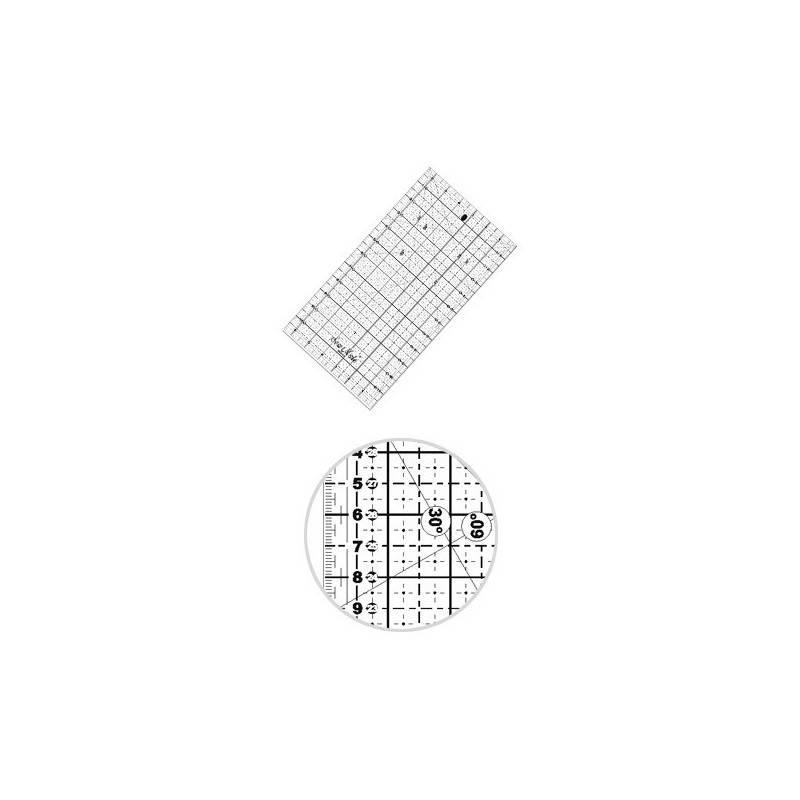 Liniał do patchworku i quiltingu 160x320 mm, linijka podziałka centymetrowa, czarna