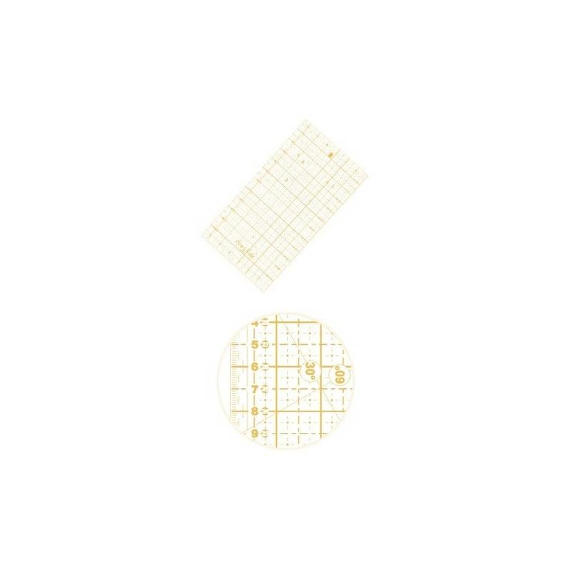 Liniał do patchworku i quiltingu 160x320 mm, linijka podziałka centymetrowa, żółta