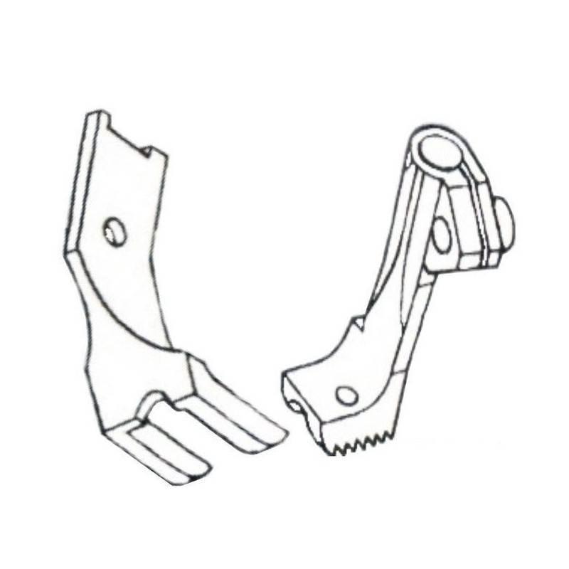 """Stopka do wszywania kedry 5/32"""" - 4 mm stębnówka potrójny transport"""