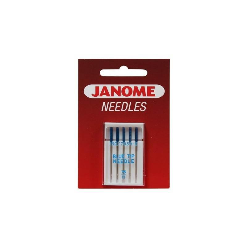 Igły półpłaskie JANOME BLUE TIP specjalne do tkanin i dzianin (do szycia i haftowania)