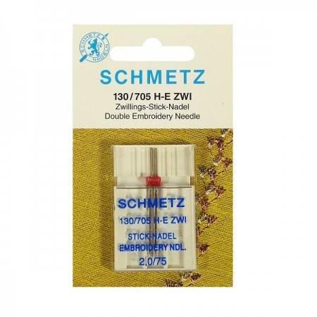 Igła podwójna SCHMETZ 130/705H-E ZWI do haftowania rozstaw 2MM - 1