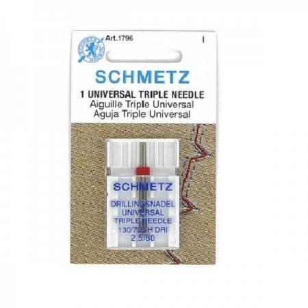 Igła potrójna SCHMETZ TRIPLE NEEDLE 130/705H-DRI ROZSTAW 2,5MM - 1