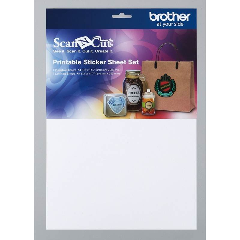 Zestaw materiałów do etykiet/naklejek BROTHER ScanNcut CAPSS1