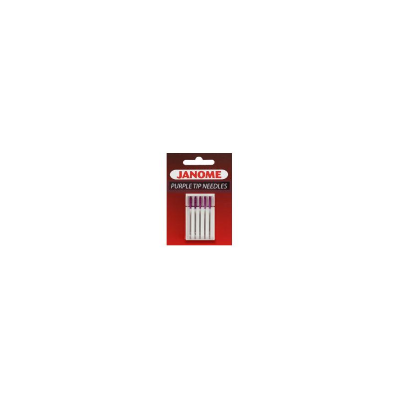 Igły półpłaskie JANOME PURPLE TIP do zadań specjalnych ( do dzianin, do trudnych i syntetycznych materiałów)