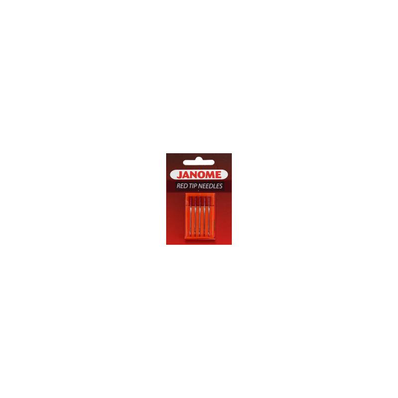 Igły półpłaskie JANOME RED TIP do szycia i haftowania grubszych materiałów
