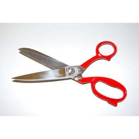 """Nożyce PREMAX 7"""" 18 cm profesjonalne krawieckie z czerwonymi uchwytami 21820700R - 2"""