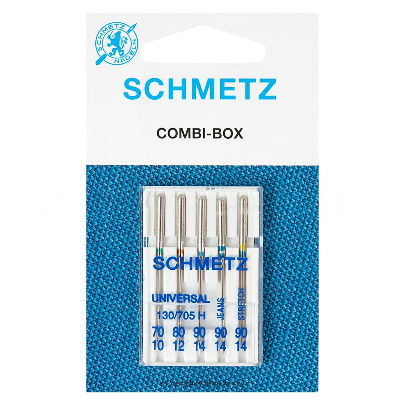 Igły SCHMETZ półpłaskie 130/705 H COMBI-BOX MAŁY