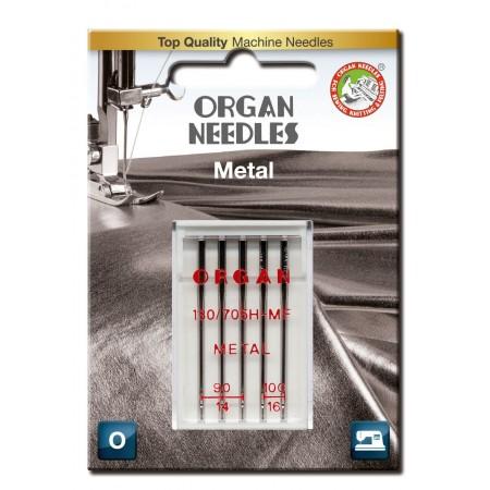 Igły ORGAN 130/705H-MF METAL do nici metalizowanych blister - 1