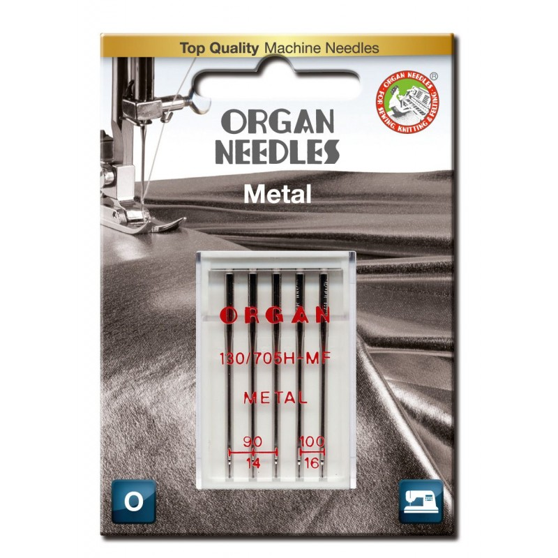 Igły ORGAN 130/705H-MF METAL do nici metalizowanych blister
