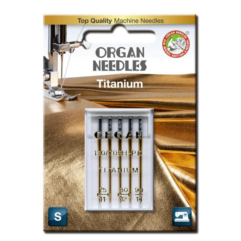Igły ORGAN 130/705H-PD TITANIUM tytanowe blister