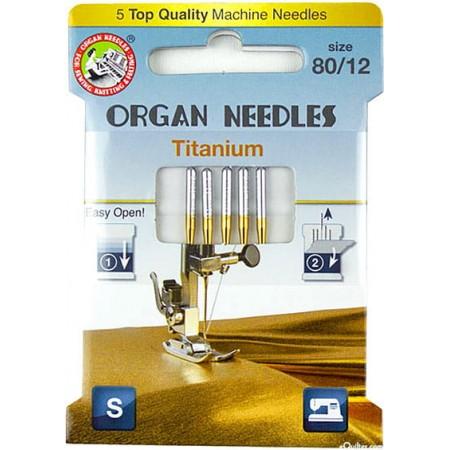 Igły ORGAN 130/705H titanium ECO BOX do haftu - 1