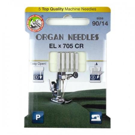 Igły ORGAN ELX 705 CR do owerloków i coverlocków ECO BOX - 1
