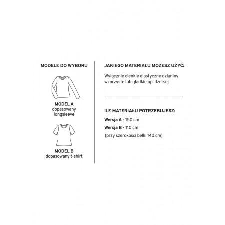 Wykrój na klasyczną damską bluzkę ANNA - 3