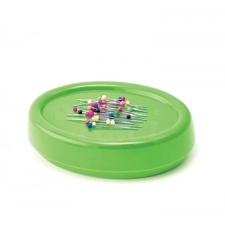 Magnetyczna poduszka do igieł i szpilek zielona - 1