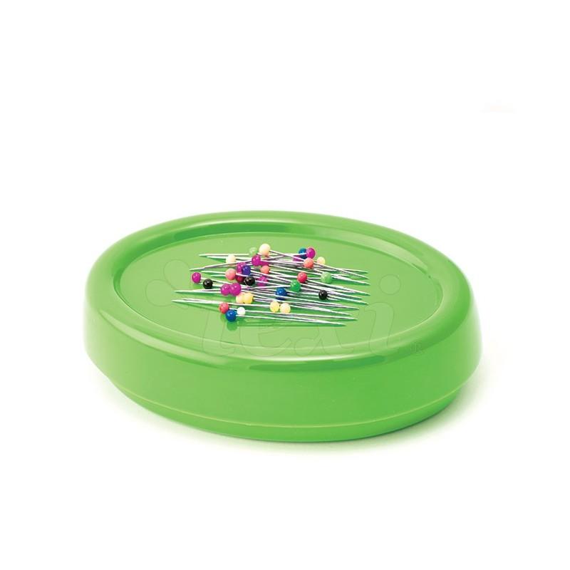 Magnetyczna poduszka do igieł i szpilek zielona