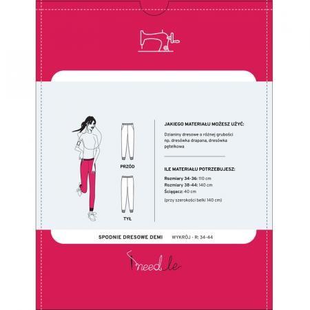 Wykrój iNEEDLE DEMI na spodnie dresowe - 2