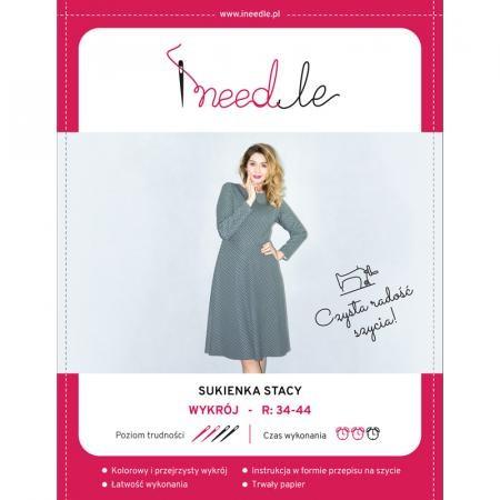Wykrój iNEEDLE STACY na klasyczną sukienkę - 1