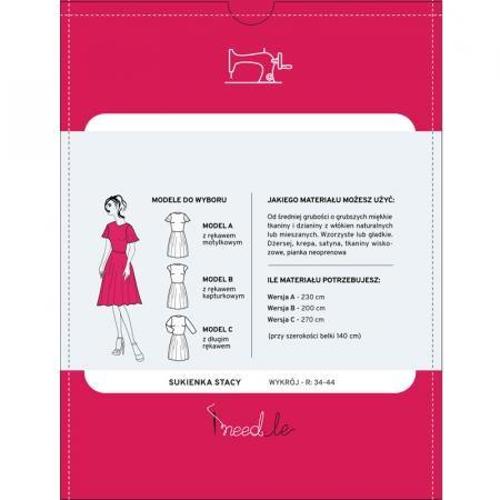 Wykrój iNEEDLE STACY na klasyczną sukienkę - 2