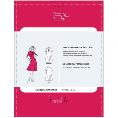 Wykrój na luźną sukienkę damską Margaret - 2