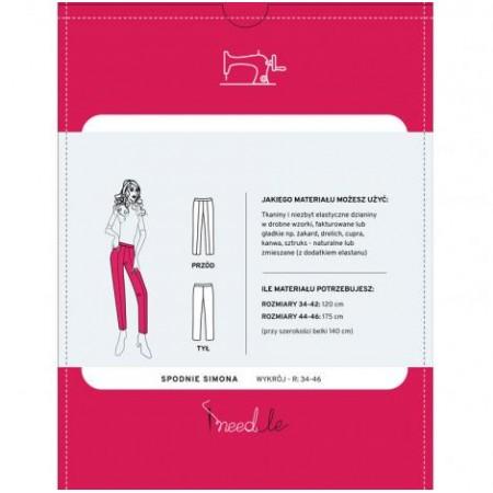 Wykrój na spodnie damskie typu cygaretki Simona - 2