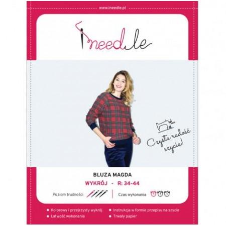 Wykrój na bluzę damską z rękawem raglanowym Magda - 1