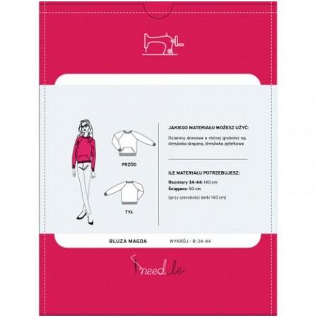 Wykrój na bluzę damską z rękawem raglanowym Magda - 2