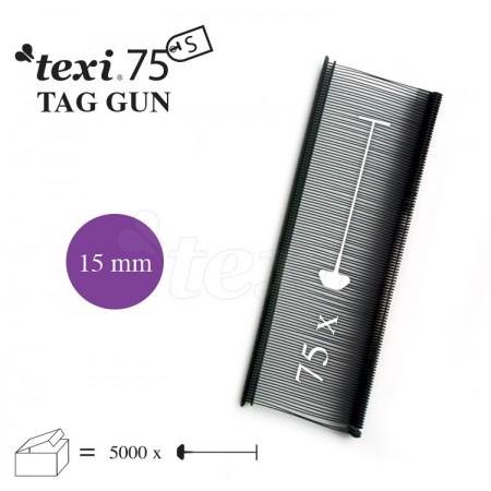 TEXI 75 PPS BLACK 015 Nitki do etykietowania 15 mm standard czarne 5.000 szt. - 1