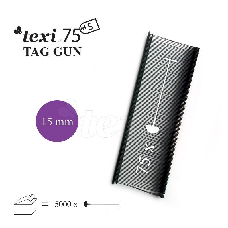TEXI 75 PPS BLACK 015 Nitki do etykietowania 15 mm standard czarne 5.000 szt.